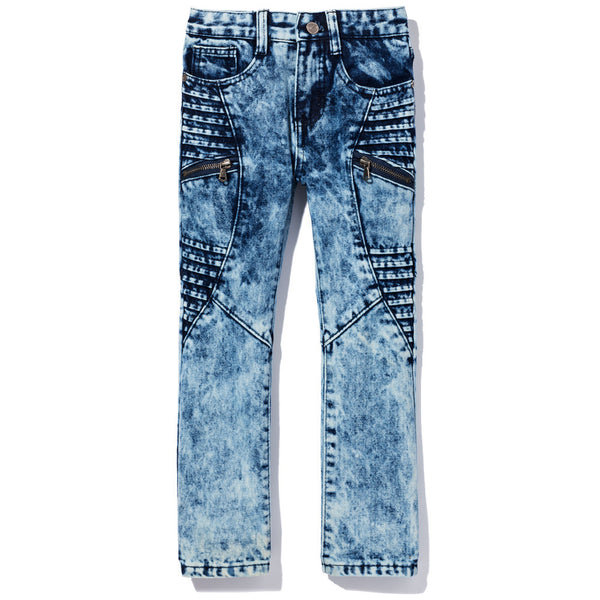 Moto Moves Boys Acid Wash Denim Jeans - Citi Trends Boys - Front
