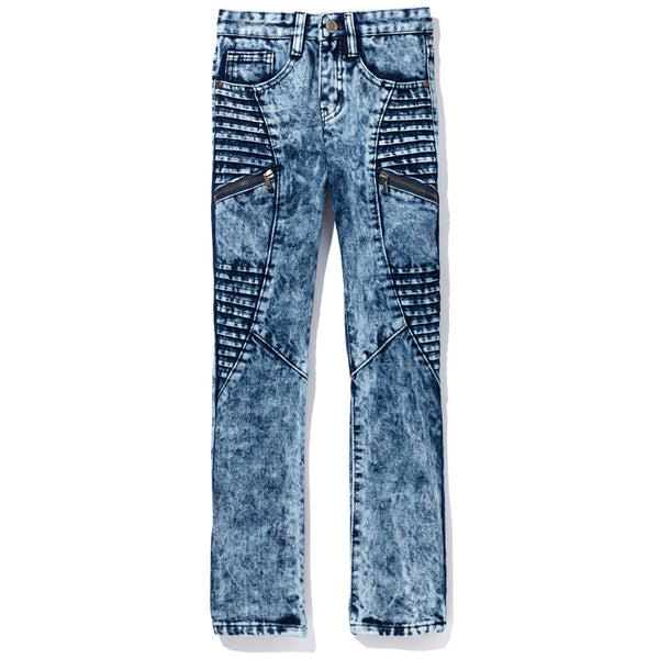 Moto Moves Boys Light Acid Wash Denim Jeans - Citi Trends Boys - Front