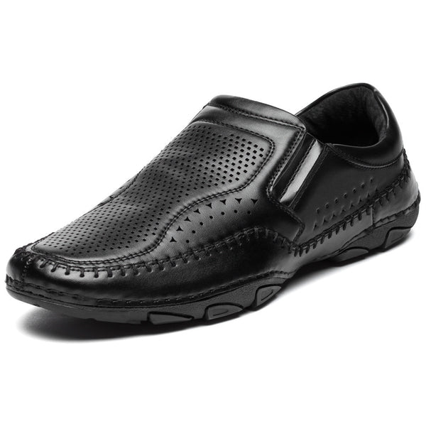 Just Slip It Black Perforated Driver - Citi Trends Mens - Front