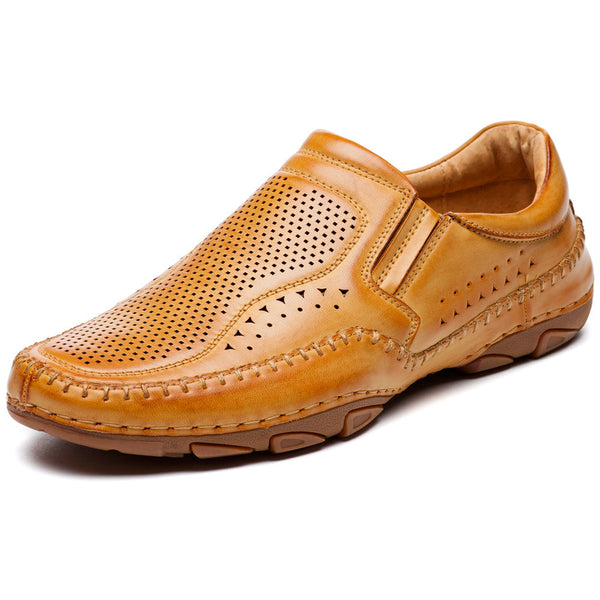 Just Slip It Tan Perforated Driver - Citi Trends Mens - Front