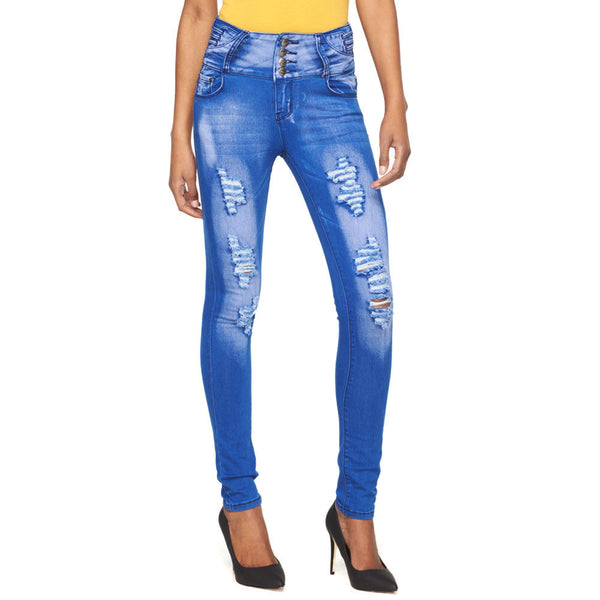 Into The Blue High-Waist Distressed Skinny Jean - Citi Trends Ladies - Front