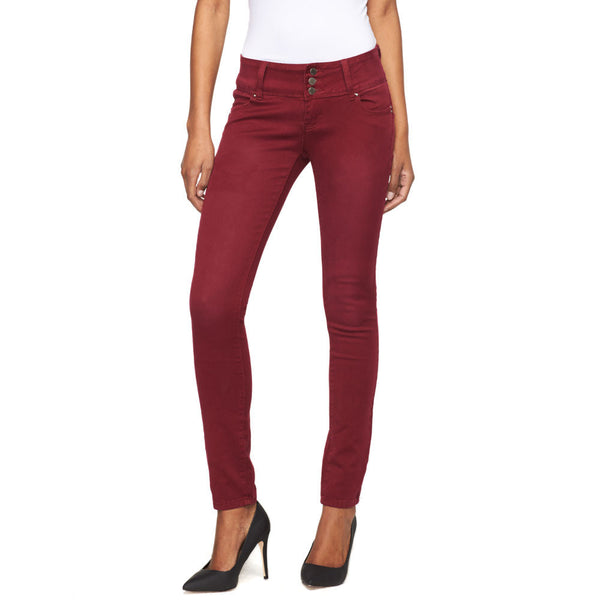 Stacked Burgundy Skinny Pant - Cititrends Ladies - Front