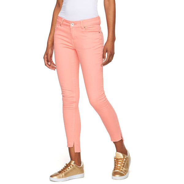 Fray Your Own Way Coral Skinny Pant - Cititrends Juniors - Front