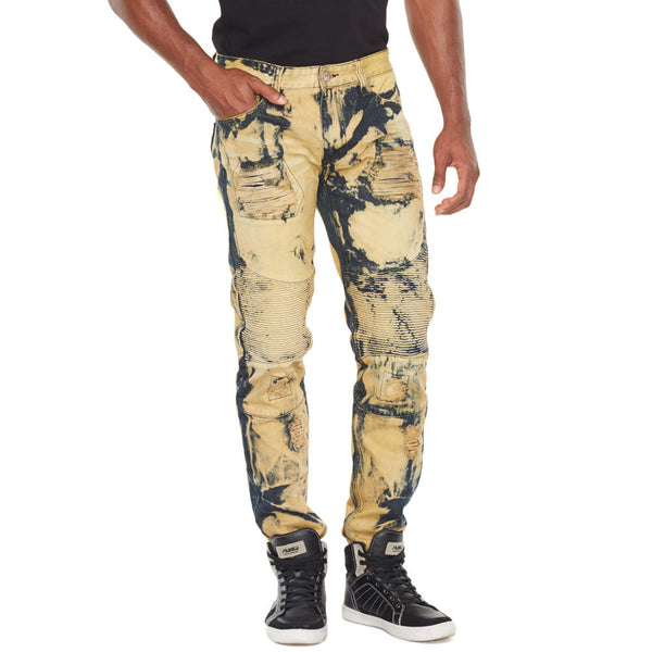 Eye Of The Tiger Bleach Washed Denim Jean - Citi Trends Mens - front