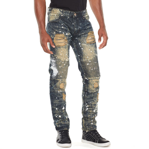 Get Back Up Paint Splatter Moto Jean - Citi Trends Mens - Front
