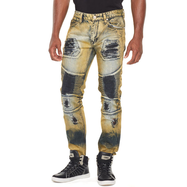 Down And Dirty Moto Washed Denim - Citi Trends Mens - Front