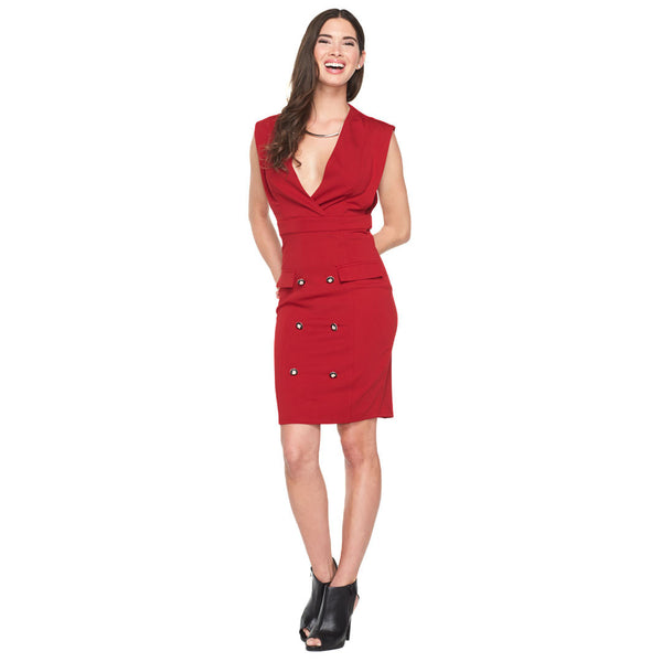Style On Deck Red Sailor Dress - Citi Trends Ladies - Front
