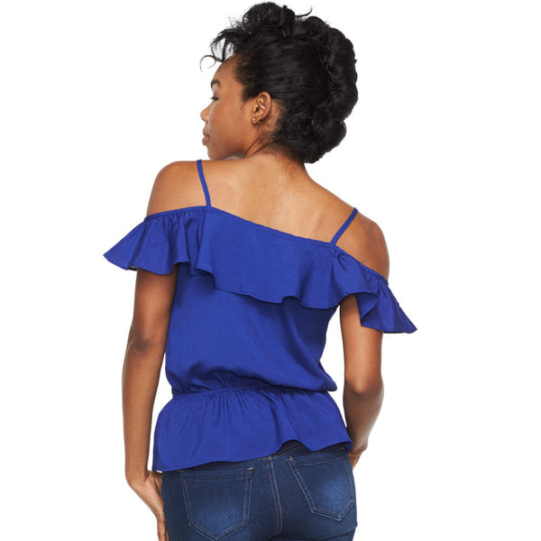 Frillin Fabulous Royal Blue Off-The-Shoulder Top - Citi Trends Ladies - Back