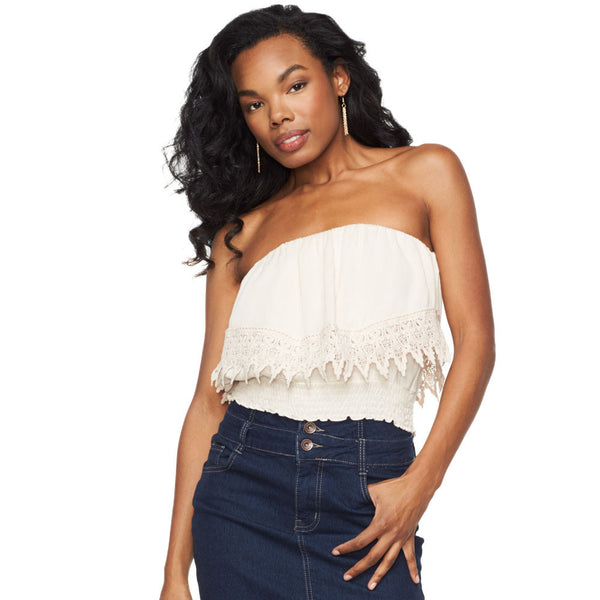 Crochet All Day Tube Top - Citi Trends Juniors - Front