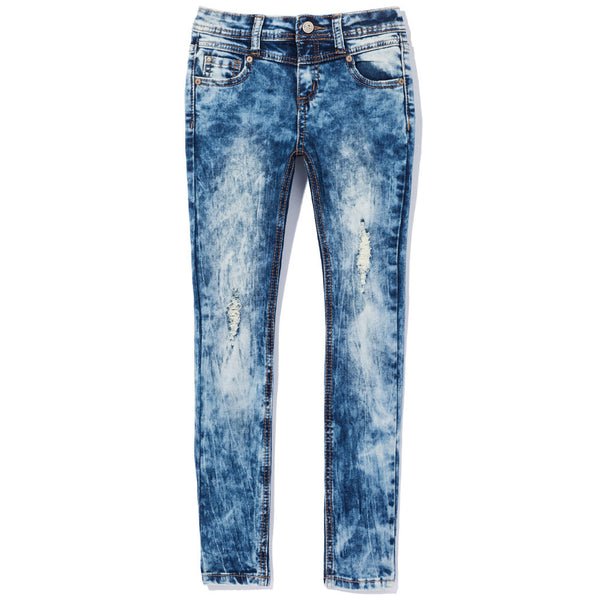 Denim Dip Girls High-Waist Distressed Skinny Jean - Citi Trends Girls - Front