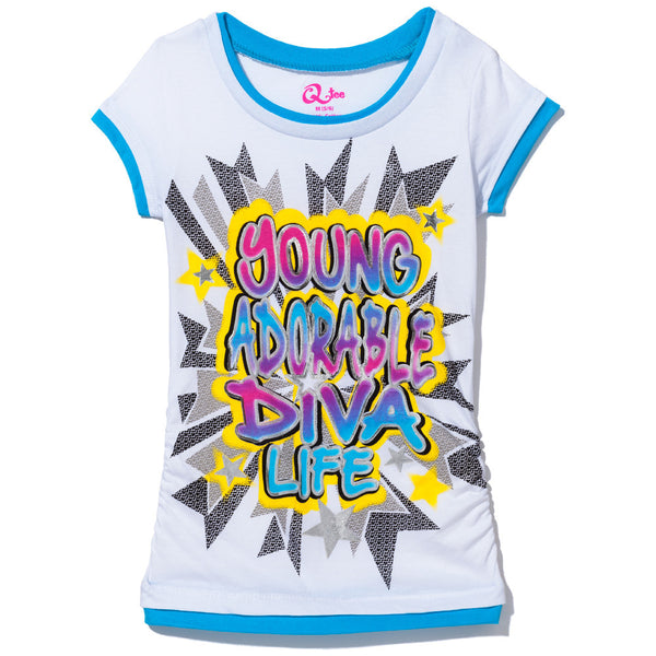 Young Adorable Diva Girls Graphic Tee - Cititrends Girls - Front
