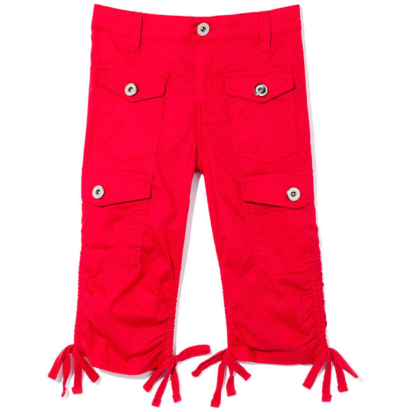 Tie-Da Girls Red Ruched Capri - Citi Trends Girls - Front