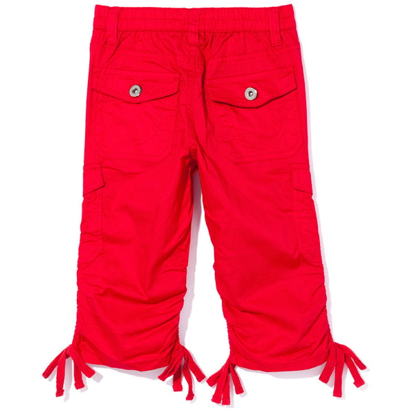 Tie-Da Girls Red Ruched Capri - Citi Trends Girls - Back