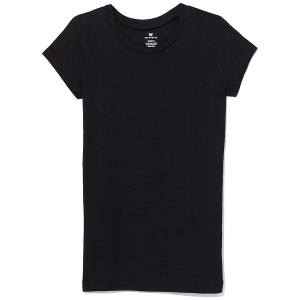 Basically Everything Girls Black Crew-Neck Tee
