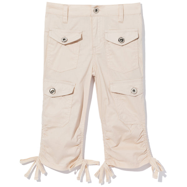 Tie-Da Girls Khaki Ruched Capri - Citi Trends Girls - Front