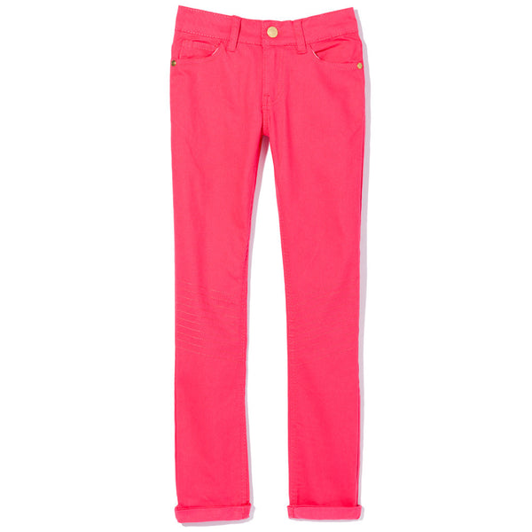Moto Moves Girls Coral Twill Pant - Citi Trends Girls - Front