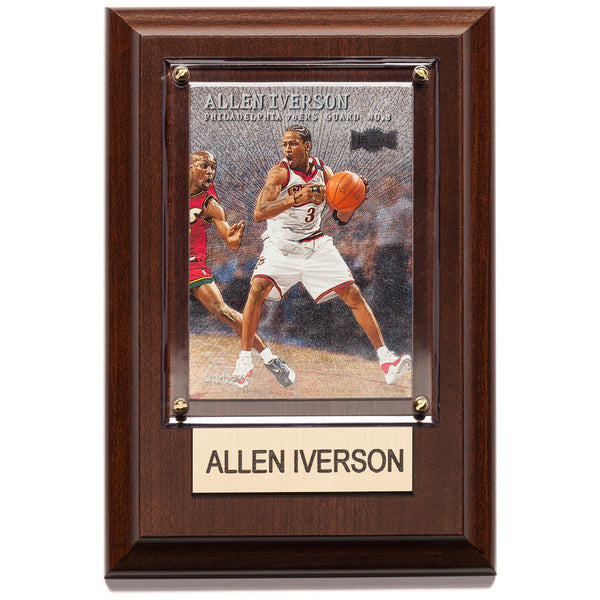 NBA 4x6 Allen Iverson Philadelphia 76Ers Guard No 3 Player Plaque - Citi Trends Home - Front