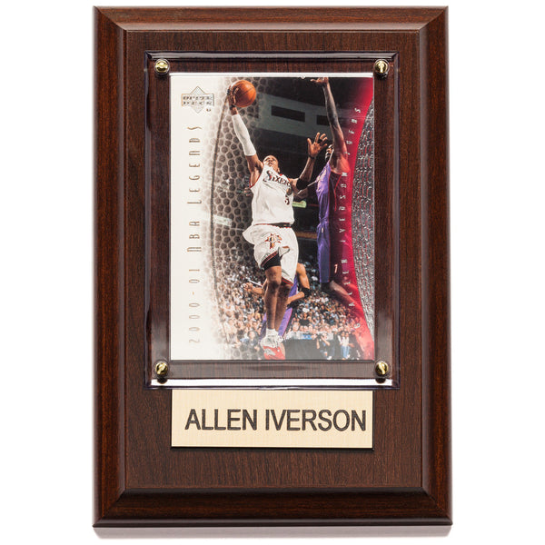 NBA 4x6 Allen Iverson 2000-01 NBA Legends Player Plaque
