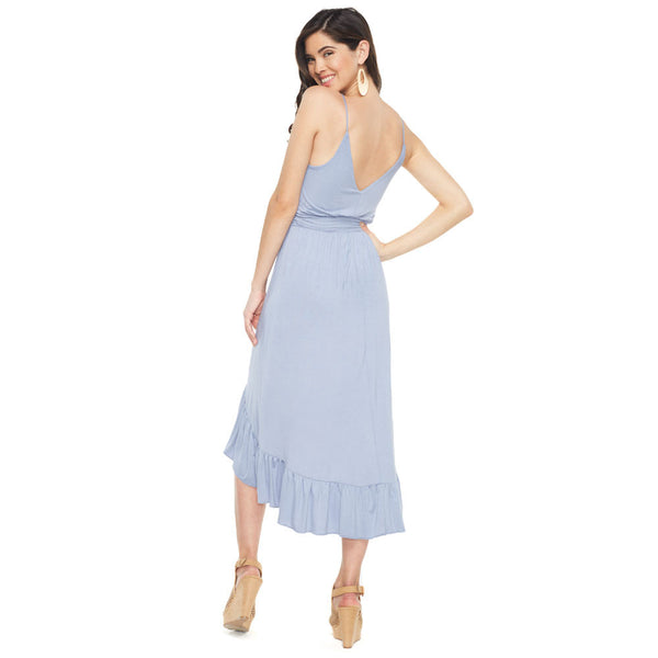All About The Ruffles Light Blue High-Low Dress - Citi Trends Ladies - Back