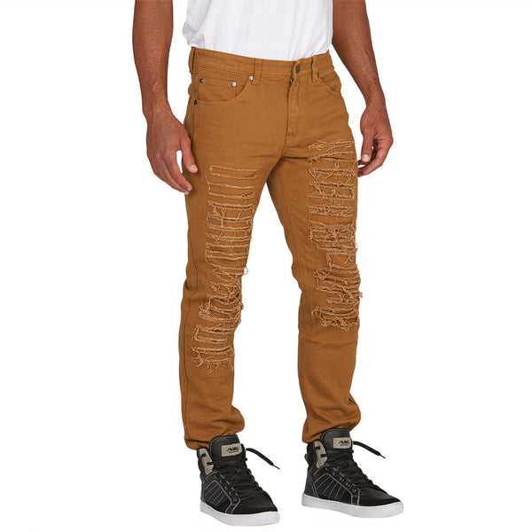 Bronze Rip and Repair Bull Denim Jean - Citi Trends Mens - Front