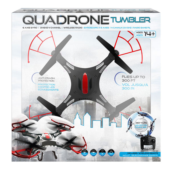 Quadrone Black/Red Tumbler Drone - Citi Trends Home - Box Front