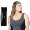 Norah Reversible Headband - Rainbeau Curves, One Size / Charcoal, activewear, athleisure, fitness, workout, gym, performance, womens, ladies, plus size, curvy, full figured, spandex, cotton, polyester - 3