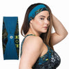 Norah Reversible Headband - Rainbeau Curves, One Size / Multi Moroccan Mystic, activewear, athleisure, fitness, workout, gym, performance, womens, ladies, plus size, curvy, full figured, spandex, cotton, polyester - 4