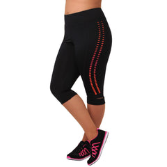Krysten Capri - Rainbeau Curves, 14/16 / Passion Pink, activewear, athleisure, fitness, workout, gym, performance, womens, ladies, plus size, curvy, full figured, spandex, cotton, polyester - 3