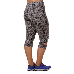 Maya Geo Print Capri - Rainbeau Curves, 14/16 / Geo Black, activewear, athleisure, fitness, workout, gym, performance, womens, ladies, plus size, curvy, full figured, spandex, cotton, polyester - 4