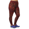 Jaclynn Lace Print Legging - Rainbeau Curves, 14/16 / Pink Lace, activewear, athleisure, fitness, workout, gym, performance, womens, ladies, plus size, curvy, full figured, spandex, cotton, polyester - 1