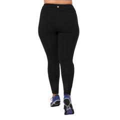 Audrey Legging - Rainbeau Curves, 14/16 / Black, activewear, athleisure, fitness, workout, gym, performance, womens, ladies, plus size, curvy, full figured, spandex, cotton, polyester - 4