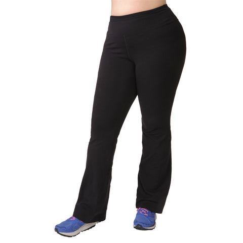 Meegan Yoga Pant - Rainbeau Curves, 14/16 / Black, activewear, athleisure, fitness, workout, gym, performance, womens, ladies, plus size, curvy, full figured, spandex, cotton, polyester - 1