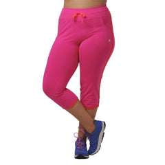 Olivia Capri - Rainbeau Curves, 14/16 / Passion Pink, activewear, athleisure, fitness, workout, gym, performance, womens, ladies, plus size, curvy, full figured, spandex, cotton, polyester - 3
