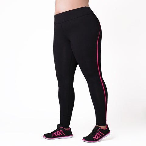 Joanna Legging - Rainbeau Curves, 14/16 / Pink Posey, activewear, athleisure, fitness, workout, gym, performance, womens, ladies, plus size, curvy, full figured, spandex, cotton, polyester - 1