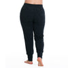 Maggie Jogger Pants - Rainbeau Curves, 18/20 / Marled Black, activewear, athleisure, fitness, workout, gym, performance, womens, ladies, plus size, curvy, full figured, spandex, cotton, polyester - 2