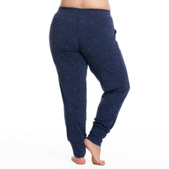 Maggie Jogger Pants - Rainbeau Curves, 14/16 / Marled Midnight, activewear, athleisure, fitness, workout, gym, performance, womens, ladies, plus size, curvy, full figured, spandex, cotton, polyester - 3