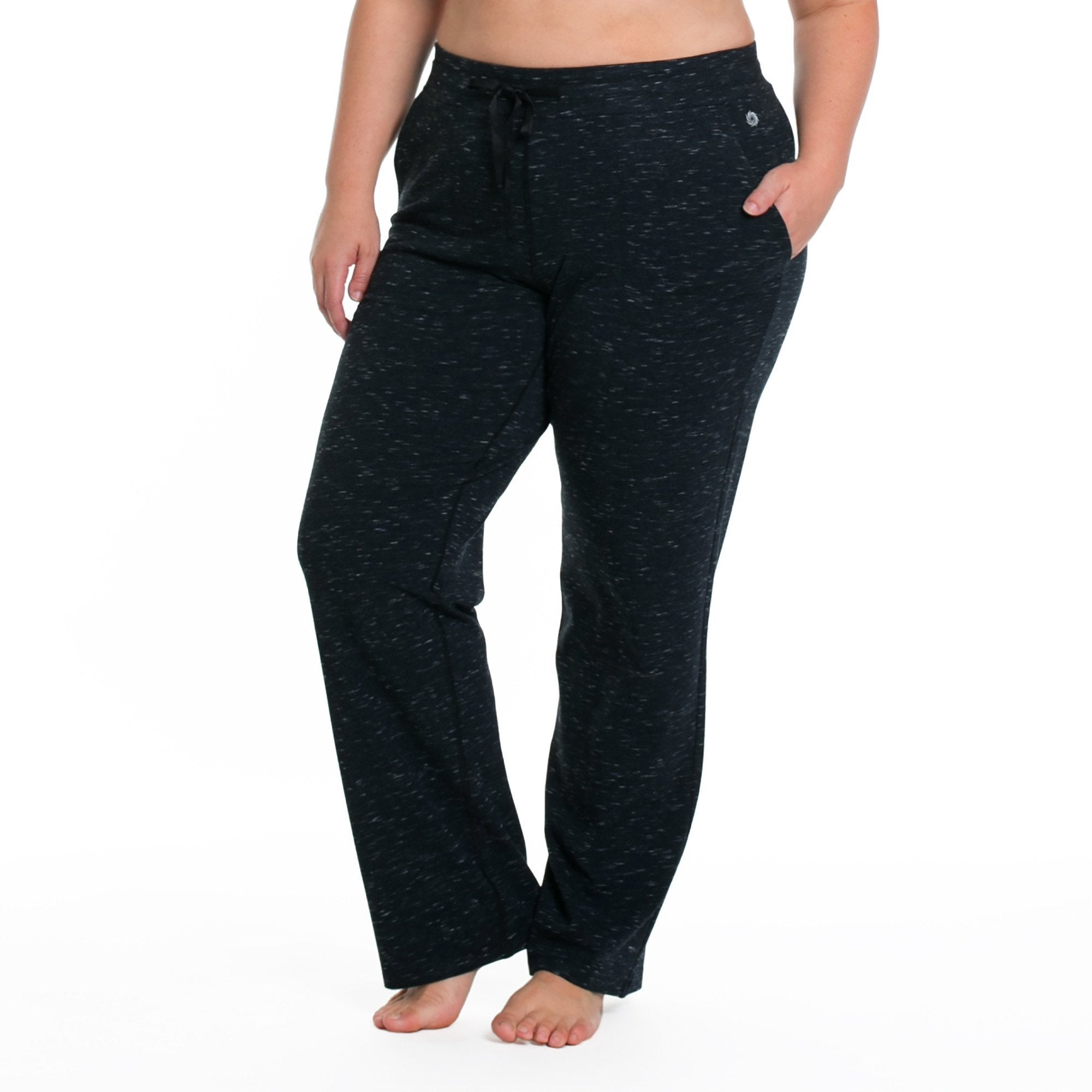 Karina Pants - Rainbeau Curves, 14/16 / Marled Midnight, activewear, athleisure, fitness, workout, gym, performance, womens, ladies, plus size, curvy, full figured, spandex, cotton, polyester - 3