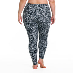 Jaclynn Radiance Print Legging - Rainbeau Curves, , activewear, athleisure, fitness, workout, gym, performance, womens, ladies, plus size, curvy, full figured, spandex, cotton, polyester - 2