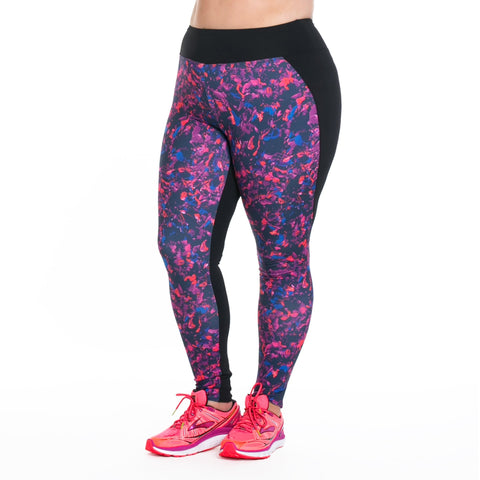 Lauren Print Sport Tight - Rainbeau Curves, 14/16 / Winter Garden, activewear, athleisure, fitness, workout, gym, performance, womens, ladies, plus size, curvy, full figured, spandex, cotton, polyester - 1