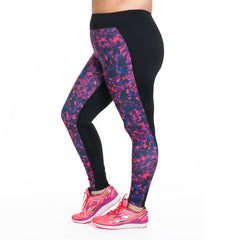 Lauren Print Sport Tight - Rainbeau Curves, , activewear, athleisure, fitness, workout, gym, performance, womens, ladies, plus size, curvy, full figured, spandex, cotton, polyester - 2