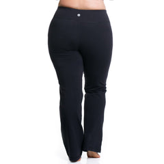 Curve Basix Straight Leg Pant - Rainbeau Curves, , activewear, athleisure, fitness, workout, gym, performance, womens, ladies, plus size, curvy, full figured, spandex, cotton, polyester - 2