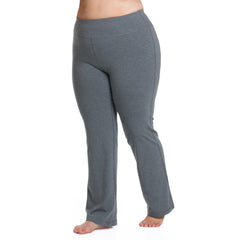 Curve Basix Straight Leg Pant - Rainbeau Curves, 14/16 / Charcoal, activewear, athleisure, fitness, workout, gym, performance, womens, ladies, plus size, curvy, full figured, spandex, cotton, polyester - 3