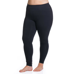 Curve Basix Leggings - Rainbeau Curves, 14/16 / Black, activewear, athleisure, fitness, workout, gym, performance, womens, ladies, plus size, curvy, full figured, spandex, cotton, polyester - 1