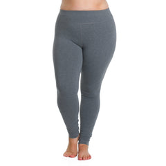 Curve Basix Leggings - Rainbeau Curves, 14/16 / Charcoal, activewear, athleisure, fitness, workout, gym, performance, womens, ladies, plus size, curvy, full figured, spandex, cotton, polyester - 3