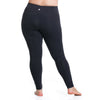 Curve Basix Compression Legging - Rainbeau Curves, 14/16 / Black, activewear, athleisure, fitness, workout, gym, performance, womens, ladies, plus size, curvy, full figured, spandex, cotton, polyester - 3