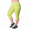 Lilia Capri - Rainbeau Curves, 14/16 / Limelight, activewear, athleisure, fitness, workout, gym, performance, womens, ladies, plus size, curvy, full figured, spandex, cotton, polyester - 4