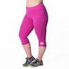 Lilia Capri - Rainbeau Curves, 14/16 / Wild Orchid, activewear, athleisure, fitness, workout, gym, performance, womens, ladies, plus size, curvy, full figured, spandex, cotton, polyester - 3