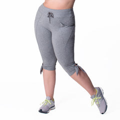 Daniela Capri - Rainbeau Curves, 14/16 / Charcoal Grey Heather, activewear, athleisure, fitness, workout, gym, performance, womens, ladies, plus size, curvy, full figured, spandex, cotton, polyester - 3