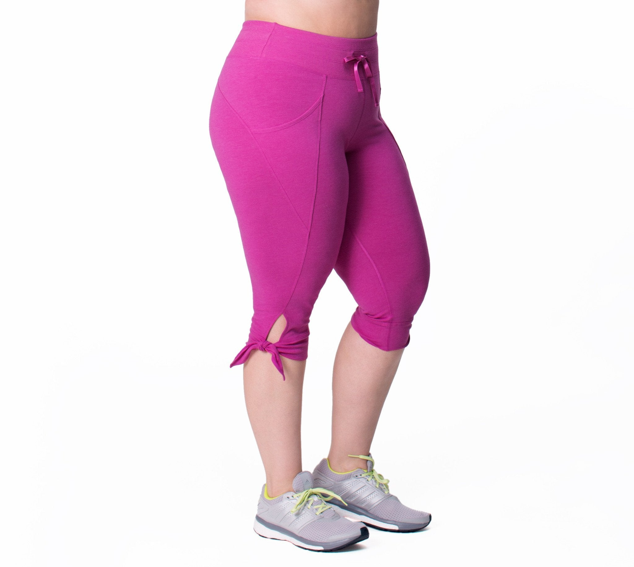 Daniela Capri - Rainbeau Curves, 14/16 / Wild Orchid Heather, activewear, athleisure, fitness, workout, gym, performance, womens, ladies, plus size, curvy, full figured, spandex, cotton, polyester - 1