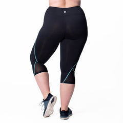Veronica Capri - Rainbeau Curves, , activewear, athleisure, fitness, workout, gym, performance, womens, ladies, plus size, curvy, full figured, spandex, cotton, polyester - 3
